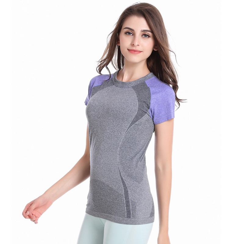 9801f153cb863 Women Sport T shirt Quick Dry Short Sleeve T shirts Fitness Running Gym  Athletic Apparel Tee Workout Stretch T Shirt-in Running T-Shirts from Sports  ...