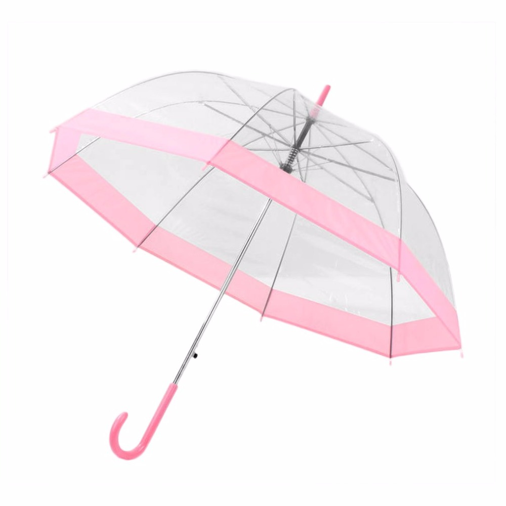 Plastic EVA Transparent Umbrella Lovely Princess Umbrella Rain Parasol  Umbrella girl Semi-automatic Umbrellas Clear Paraguas f02ff140d6