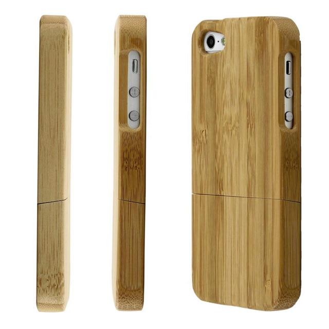 아이폰 5 5S 나무 색상에 대 한 1pcs 대나무 하드 다시 케이스 커버 수호자 도매