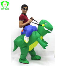 Adult Inflatable Dinosaur Costume Dress Suit Party Kid Halloween Christmas Xmas Gift One Size Fit All inflatable Costume Style цена