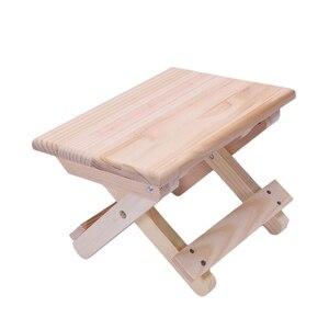 Image 5 - كرسي الشاطئ المحمولة بسيطة خشبية كرسي بلا ظهر قابل للطي أثاث خارجي كراسي الصيد الحديثة كرسي تخييم صغير البراز