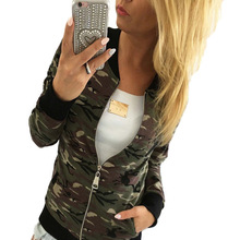 Mr.nut women's spring and autumn new camouflage zipper jacket Europe and the United States round neck loose long-sleeved jacket 2017 europe and the united states fashion color hooded long section of the windbreaker spring new cotton jacket girl red jacket