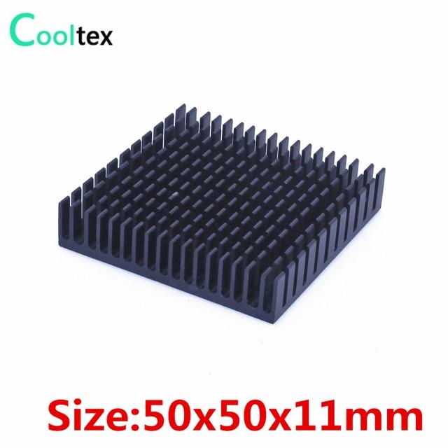 10 pcs/lot 50x50x11mm aluminium dissipateur de chaleur radiateur pour puce électronique RAM IC refroidisseur refroidissement