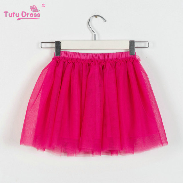 New Girls Mini Skirts Floral Lace Solid Color TuTu Skirts Baby Flower Princess Party Skirt For 2-12 Years Children Skirt