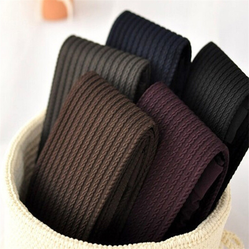 140 D Velvet High Quality Women Winter Tights Fashion Stripe Pantyhose Slim Collant Hemp Type Stockings Woman Autumn Tights W078