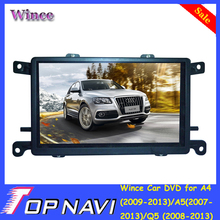 Top DHL Free Shipping Wince Car Dvd For A4(2009-2013)/A5(2007-2013)/Q5(2008-2013) With GPS Bluetooth Map Steering Wheel Control