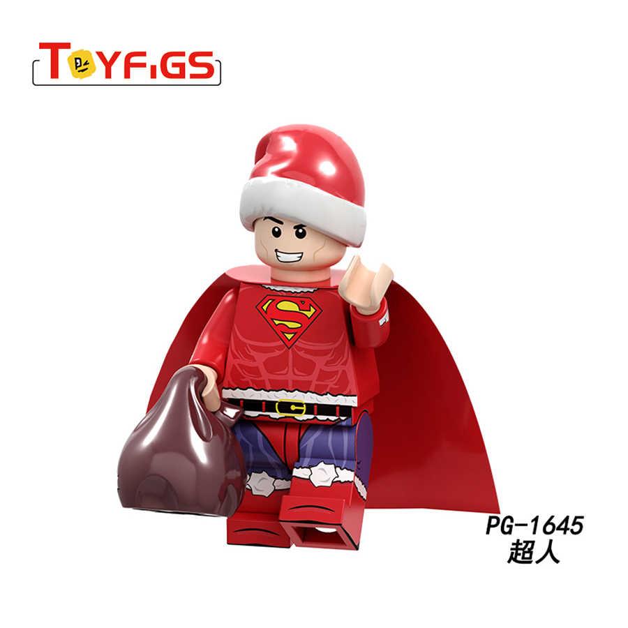 Grinch Merry Christmas Playmobil супер герой сериал о Бэтмене фигурка строительный блок кирпичная игрушка двойная игрушка для детей
