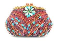 Versandkostenfrei!! Z15- 8. rot mode top kristallsteinen ringkupplungen taschen für damen schöne party tasche