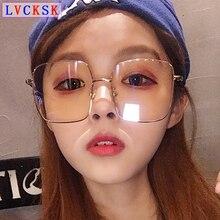 2019 Women Blue light blocking Glasses Men Anti Ray Eyeglasses Vintage Big Square Frame Spectacles Radiation Protection A5