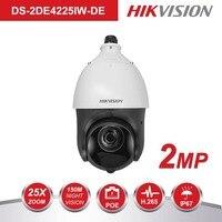 Оригинальная PTZ ip камера DS 2DE4225IW DE 2 мегапикселя моторизованный 25X зум скорость купольная камера видеонаблюдения IR 100 м объектив 4,8 120 мм