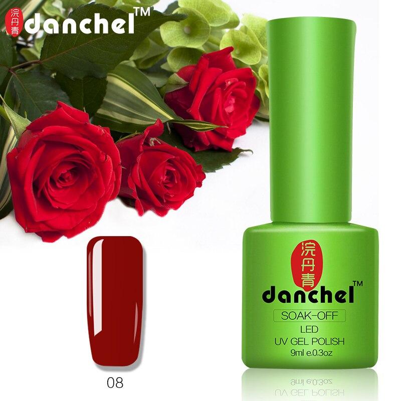 Danchel Gel Lacquer 9ML 79 Χρώματα UV Gel Μανικιούρ DIY Συμβουλές Τέχνης Νυχιών Gel Πολωνική Σχεδίαση Ζωγραφική Νυχιών Χρώμα Πηκτωμάτων Gel Lak Primer