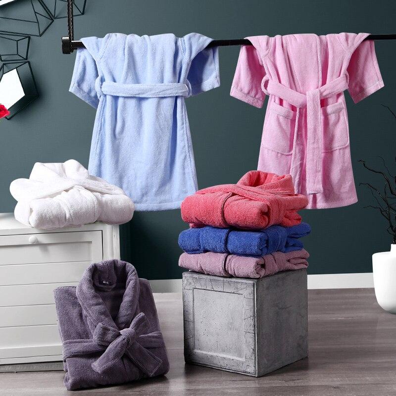 Enfants peignoir enfants pyjamas garçons filles Cartoon 100% coton peignoir enfants bébé flanelle chemise de nuit automne hiver Kimono Robe
