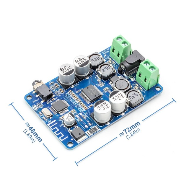 TDA7492P Bluetooth 4.0 V4.0 V2.1 אודיו מקלט מגבר לוח מודול עם AUX ממשק 2*25W כונן רמקול AUX ממשק