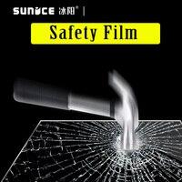 Toptan 50cm300cm Güvenlik filmi şeffaf güvenlik evi odası pencere camı banyo için cam koruyucu filmi paramparça geçirmez