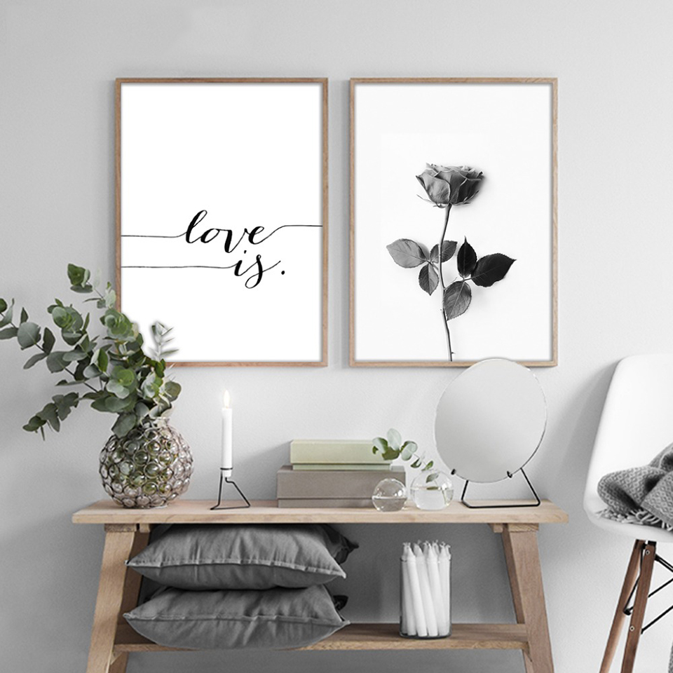 Wall Art Canvas Painting Home Decor Nordic Simple Personality Letter  Pictures Modern Printed Poster For Living Room Hot Sale