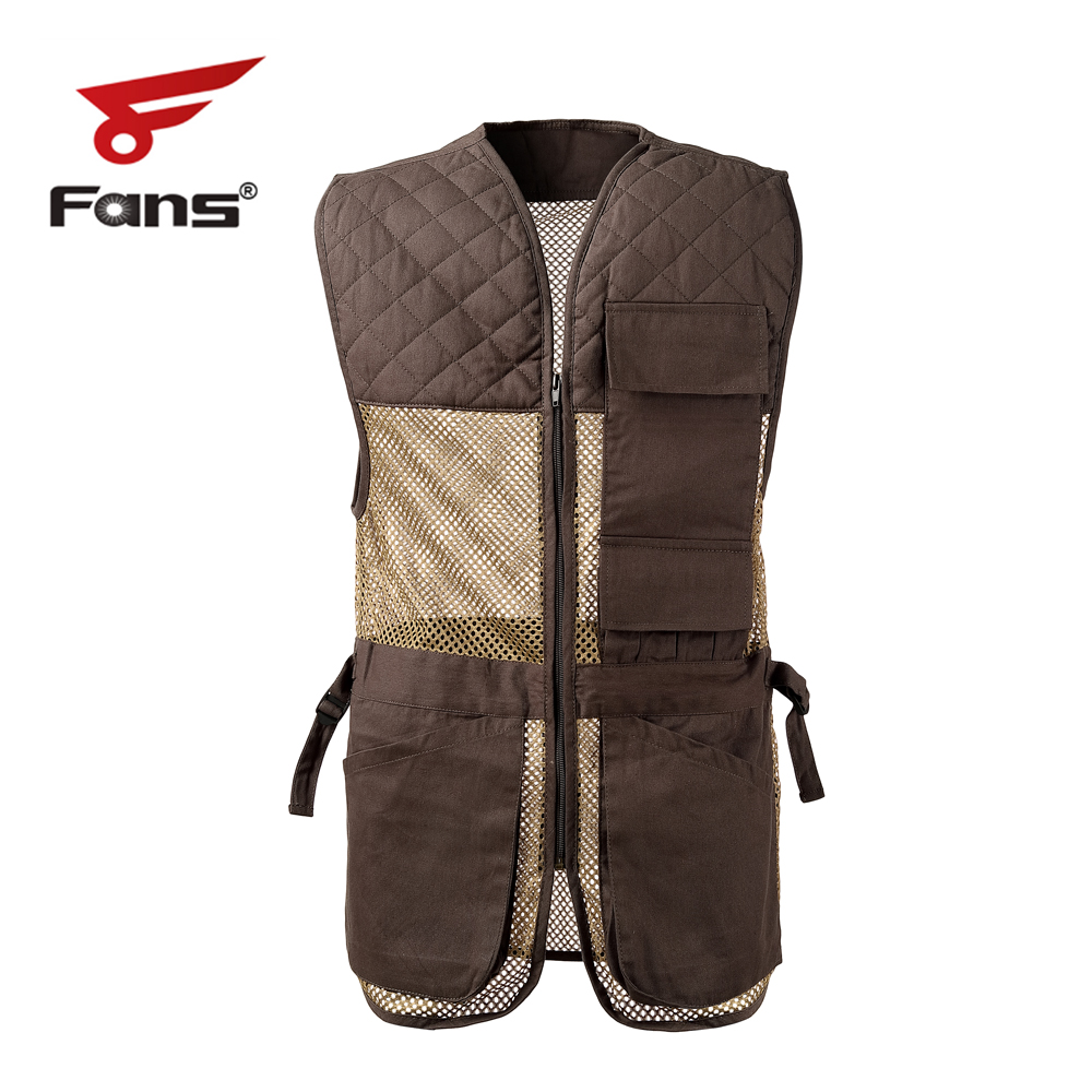 FANS Mesh Fishing Shooting Vest With Multi Pockets