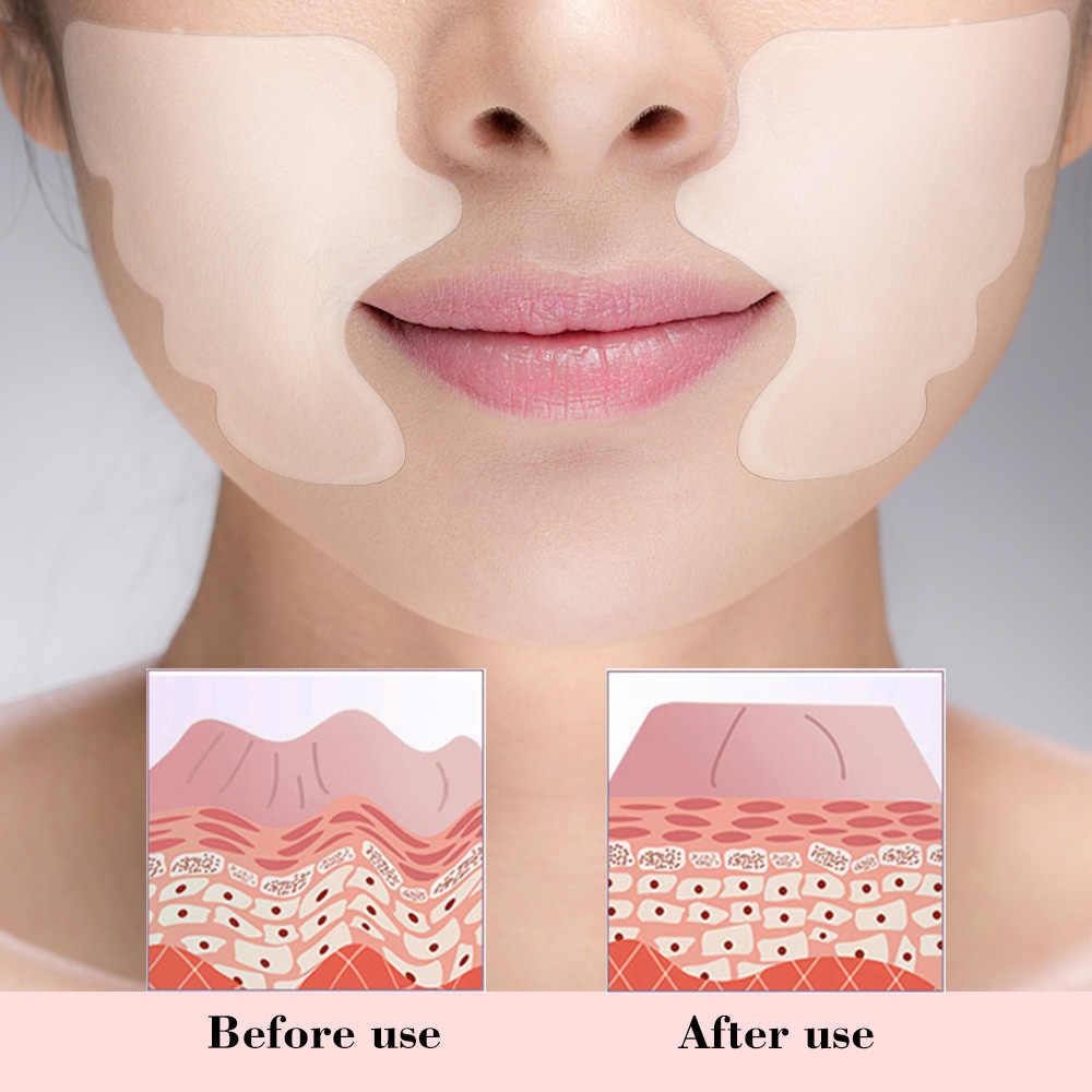 Labbra viso Rimozione Delle Rughe Pad Delle Donne Per La Cura Del Viso In Silicone Riutilizzabile Pieghe Naso-labiali Anti-invecchiamento Maschera Prevenire Viso Rughe