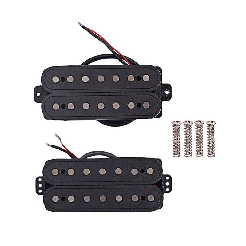 1 set 7 strings fiber alnico V neck and Bridge Guitar Pickup Humbucker Pickup Parts Accessories W20 yibuy silver humbucker bridge and neck pickups set for 6 strings electric guitar parts pack of 2