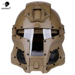 Тактические вентиляторы тактический военный Пейнтбольный шлем Железный Воин страйкбол PC объектив тактический шлем полностью покрытый шле...