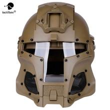 TACTIFANS тактический Пейнтбол шлем Железный воин шлем интегрированный железнодорожных ОНВ саван передачи базы ручку боевой Airsoft