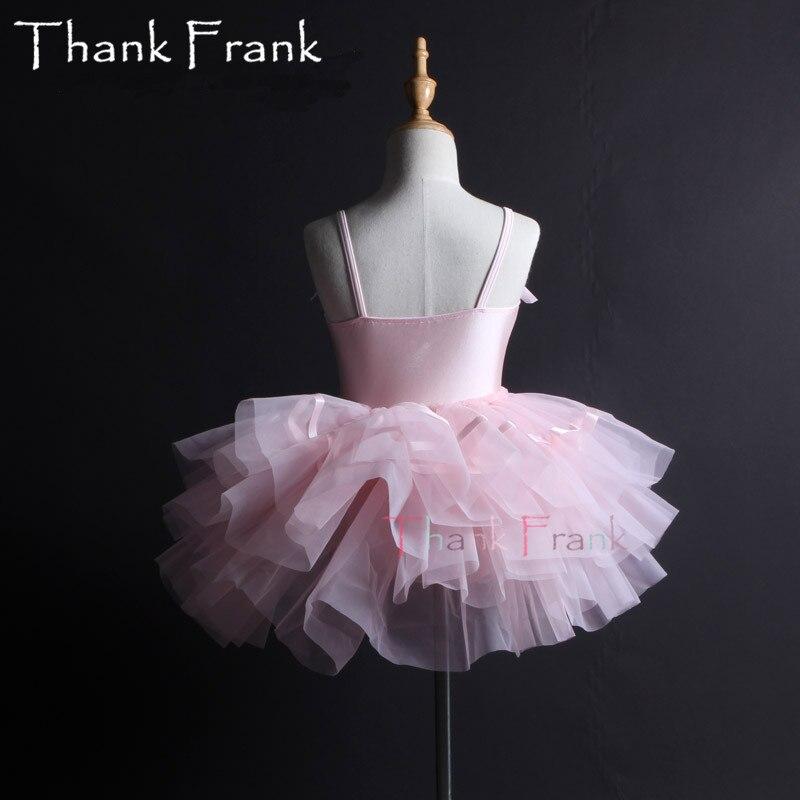 Filles Camisole Tutu Ballet robe enfants adulte arc à manches longues Ballet danse justaucorps robes femmes professionnel ballerine Costume C6 - 3