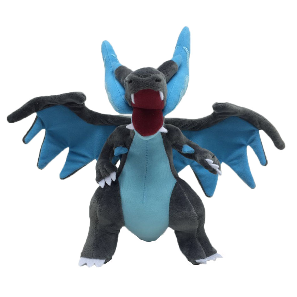 10pcs set MEGA Charizard Y Soft Plush Toys Anime Peluche Stuffed Dolls For Child Baby Toy 23CM Wholesale Price in Movies TV from Toys Hobbies