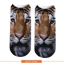 Женские брендовые носки с 3D принтом, модные популярные носки унисекс в стиле Харадзюку, тигр, Лев, деньги, серия, женские забавные повседневные короткие носки