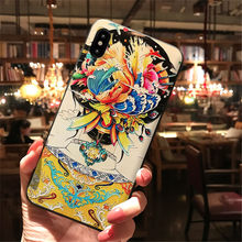 Funda de silicona para iPhone XR 6,1 InchCreative Scrub 3D pintado batas en relieve funda de teléfono para iPhone XR 6,1 pulgadas # y4(China)