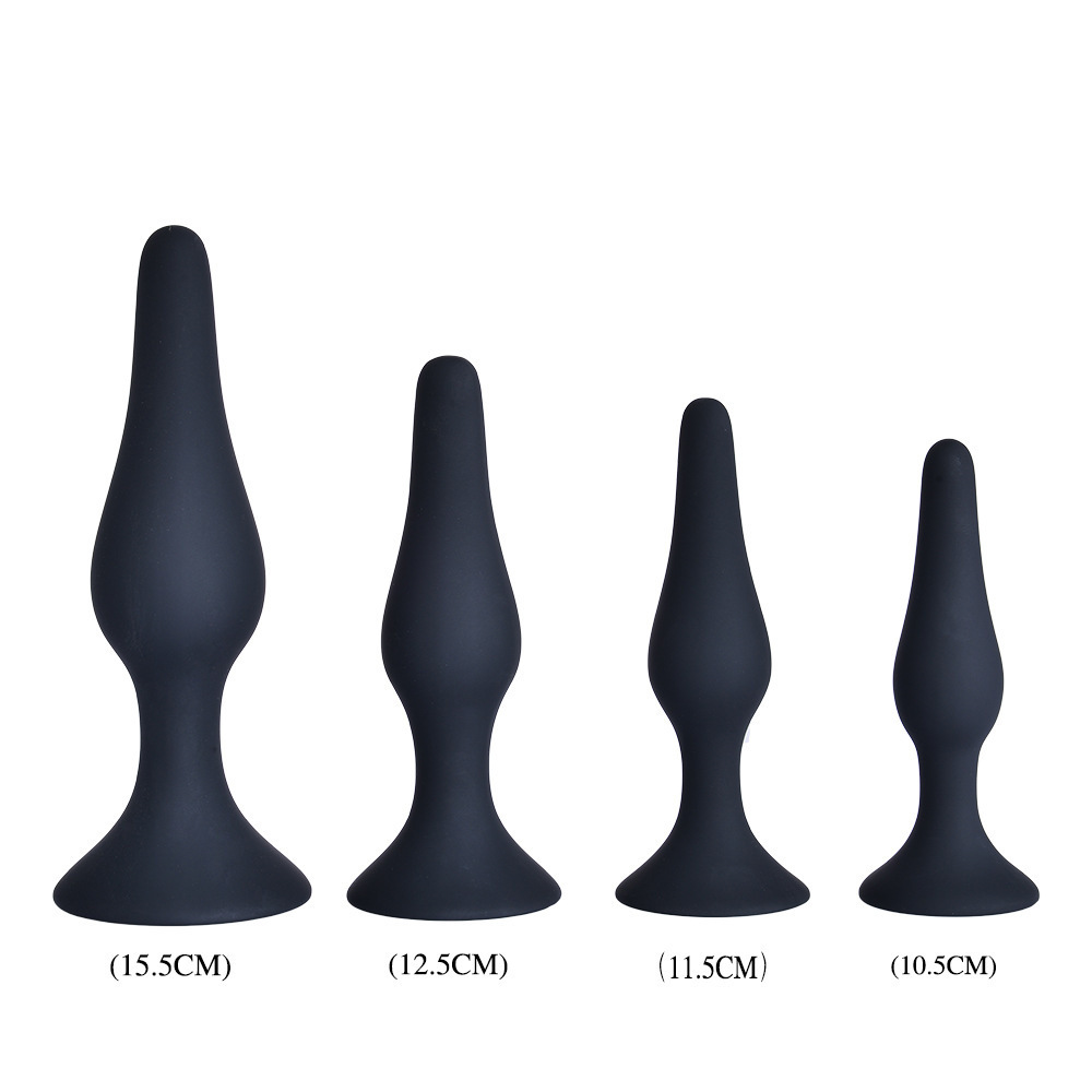 Sex Products Friendly 4pcs/set Butt Plug Jelly Silicone Real Skin Feeling Anal Sex Toys Juguetes Adult Products For Men Women Erotic Game Sex Toys