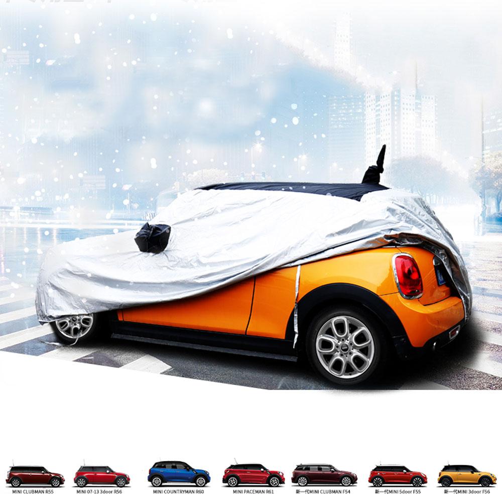 Car Covers Rain Sun Snow Dust Proof  Anti UV Scratch 4 seasons for Mini Cooper R55 R56 Countryman R60 F54 F55 F56 for mini cooper r56 s r50 r53 antenna f56 countryman f55 r55 r60 r52 with mini logo car seat gap pad plug leak cover accessories