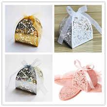 50 pcs Candy Box  Decorations DIY Paper Gift Boxes Laser Cut Flower Wedding Candy Box Wedding  Birthday Party Decoration цена и фото