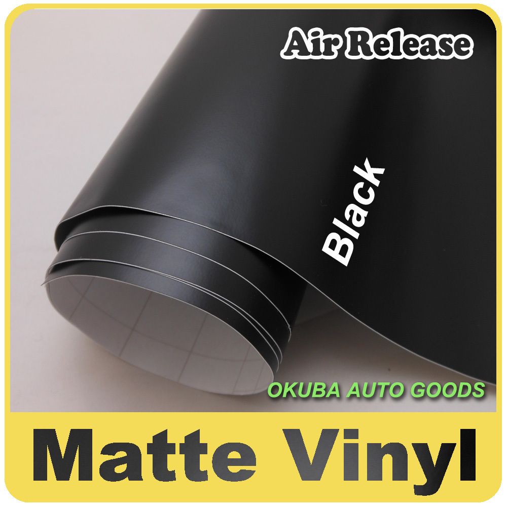 High Quality Black Matte Wrap Vinyl Sticker Film With AirFree FedEx Free Shipping Size:1.52*30m purple to blue cool effect chameleon glossy car wrap vinyl sticker with air release color change fedex free shipping 30m roll