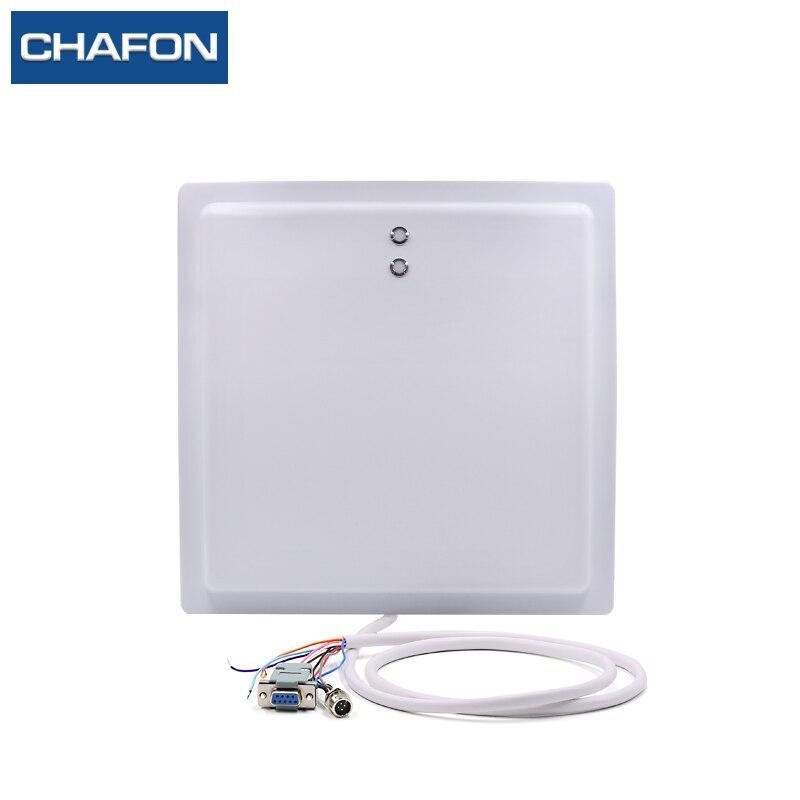 15 m UHF RFID lecteur 12 dBi antenne IP65 avec RS232/RS485/Wiegand26 interface et indicateur LED pour l'application de stationnement