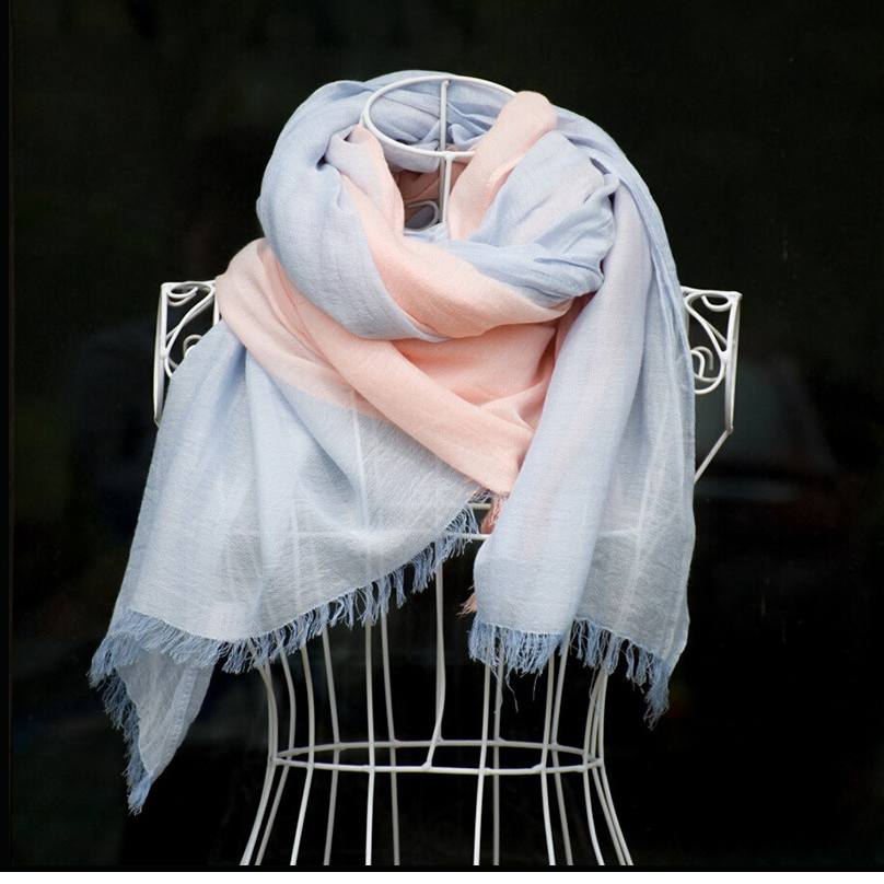 Ladybro Cotton Linen Women Scarf Winter Stole High Quality Fashion Neck Scarves Luxury Brand Shawl Wrap Long Tassel Scarf Female