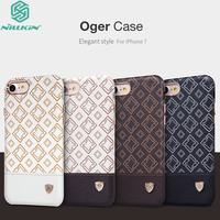 For IPhone 7 Cover Original Nillkin Oger Brief Plaid Leather Build In Iron Sheet Shell For