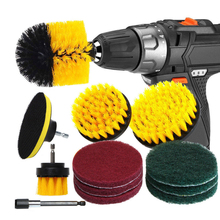 12pcs Scrubber Cleaning Kit Drill Brush Attachment Set Scouring Pads Power Floor, Tub Scrub