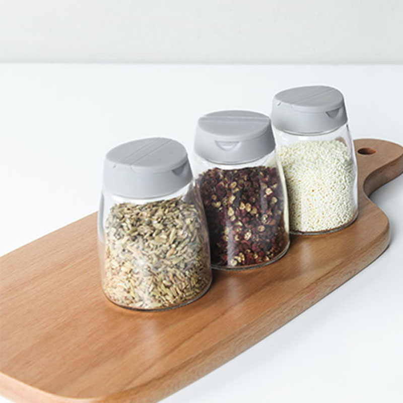 050 High Quality Glass Seasoning Cans Jar Salt Pepper Shaker Spice Pepper Salt With Removable Lid BBQ Tools Cooking Accessory in Bottles Jars Boxes from Home Garden