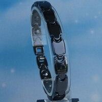 men fashion hi tech scratch proof magnetic black ceramic bracelets bangles
