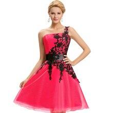 Выпускной элегантное homecoming бал одно плечо розовый короткие синий красный платья