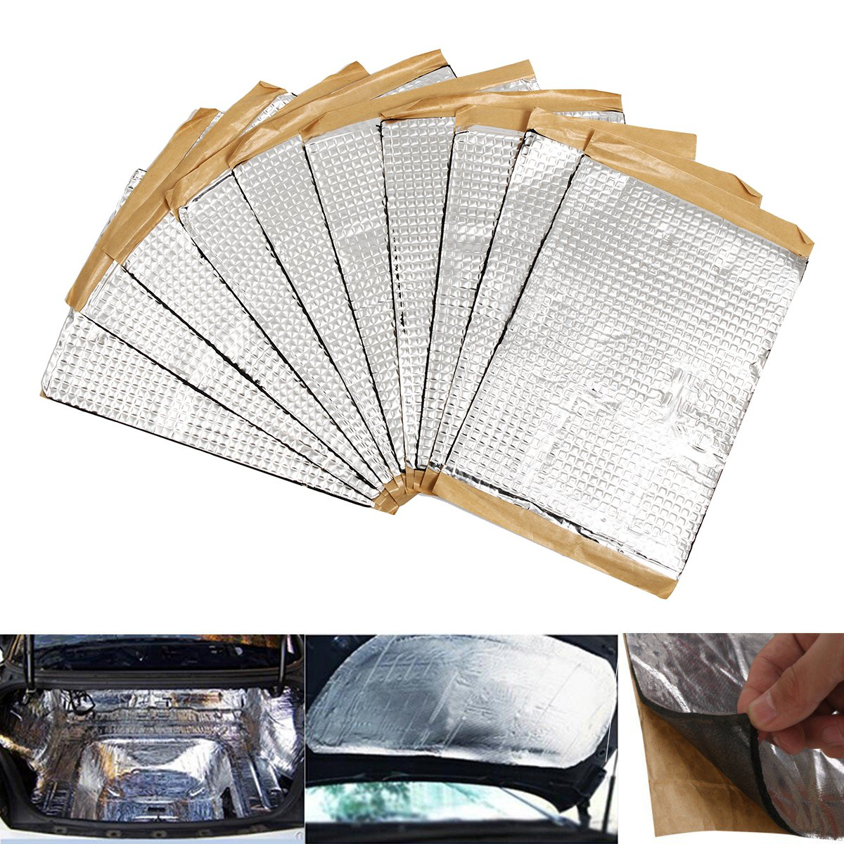 10 Pcs Automobiles Car Sound Deadener Deadening Vibration Sound Proofing Damping Mat Heat Noise Shield Insulation 187x265mm 2mm(China)