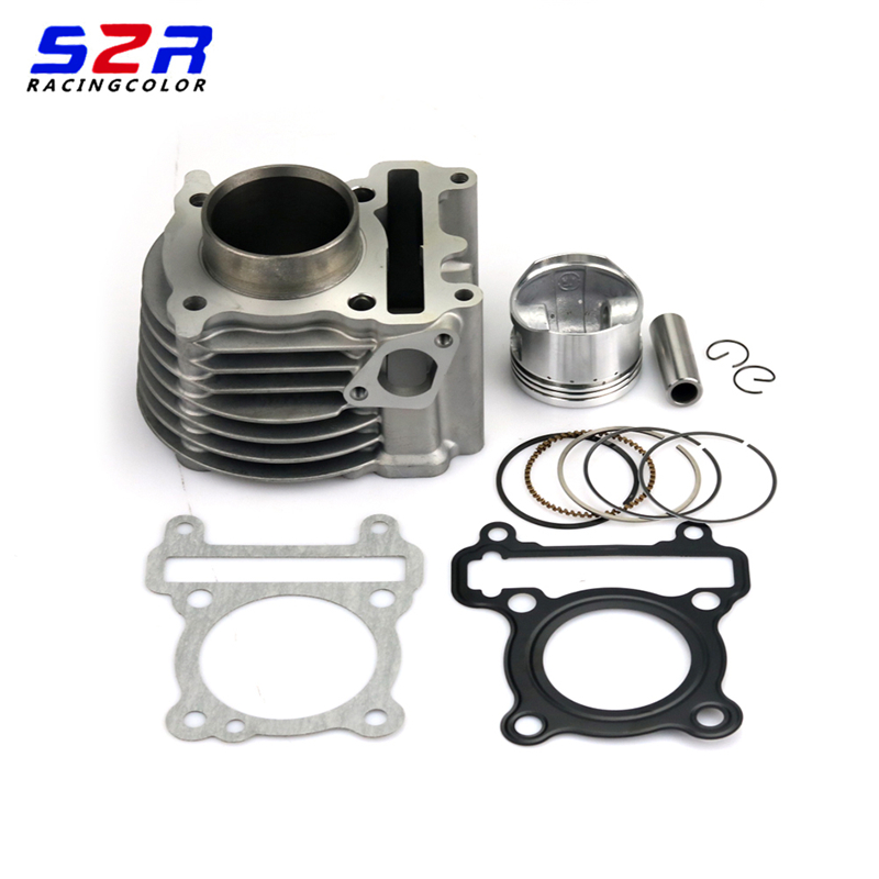 Motorcycle Engine <font><b>52mm</b></font> Suite Cylinder Kit & <font><b>Piston</b></font> Kit Cylinder Gasket for Yamaha ZUMA125 YW125 BWS125 Nxc Cygnus X 125 image