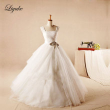 Liyuke A-Line Court Train Wedding Dress Bride Dresses