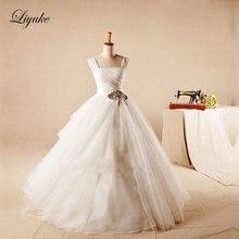 Liyuke A-Line Court Train Wedding Dress Bride Dresses