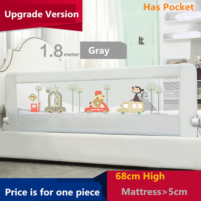 Baby crib guardrail fence baby bed fence 2 meters 1.8 bed general bed rails buffer-type