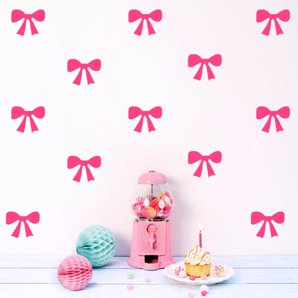 High quality bow decoration stickers buy cheap bow decoration diy ribbon bow wall stickers decals kids children room home decoration vinyl wall art stickers 7051724 amipublicfo Choice Image