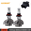 Auxmart 5S Car Headlight LED H13/9008 CSP 8000LM 72W 6500K Flexible copper belt DRL Automobile Headlamp Hi-Lo Beam Car Lighting