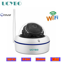 mini ip camera 720p hd wifi wireless 1mp dome indoor outdoor IR onvif TF SD Card 8gb ip network cctv surveillance video cam