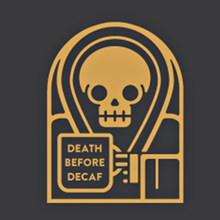 Morte prima di decaffeinato pin cranio(China)