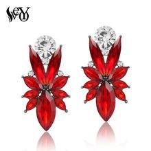 VEYO Hyperbole Crystal Stud Earrings For Woman 8 Colors Trendy Earrings Fashion Jewelry Gift