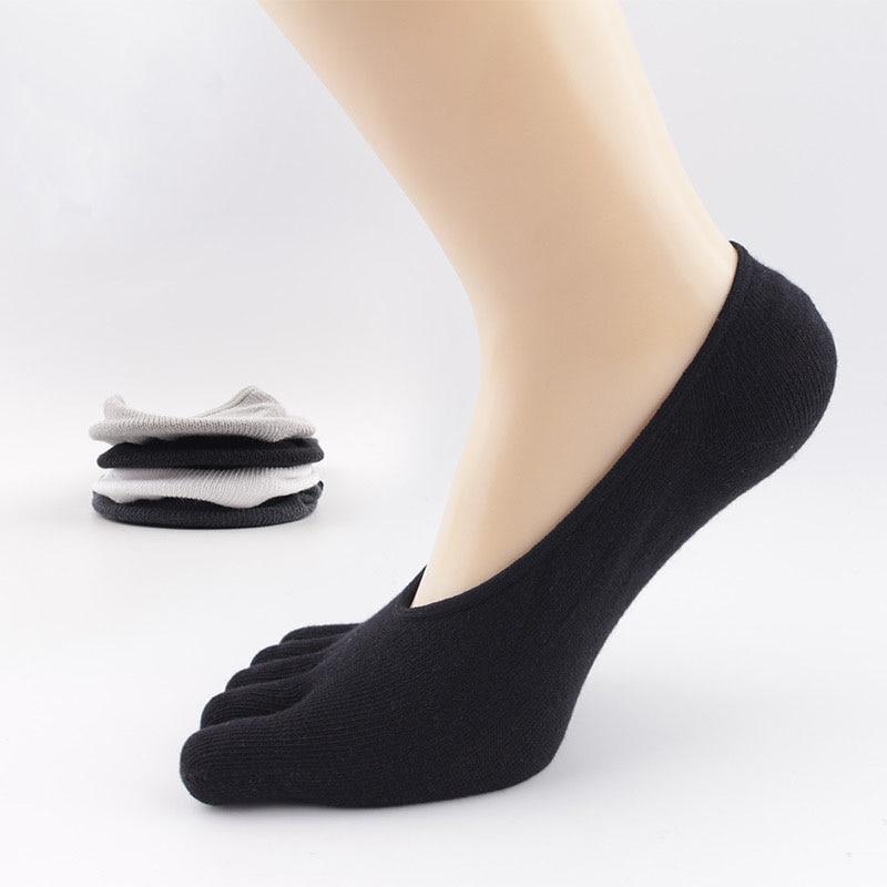 Toe Socks For Men Summer Breathable No Show Sokken Low Cut Men Socks Cotton Invisible 3 Pairs Lot Sox 5 Finger Socks Set BOC004